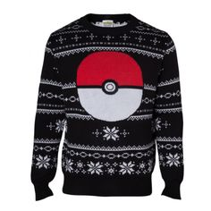Pokémon Snowballs and Pokéballs Knitted Christmas Sweater/Jumper ($40) ❤ liked on Polyvore featuring tops, sweaters, jumpers sweaters, xmas sweaters, christmas sweaters, jumper tops and xmas jumpers