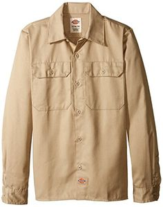 Dickies Big Boys Twill Long Sleeve Shirt Khaki Medium 1012 >>> Continue to the product at the image link.Note:It is affiliate link to Amazon.