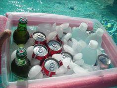 Pool noodle-DIY Plastic Floating Bin
