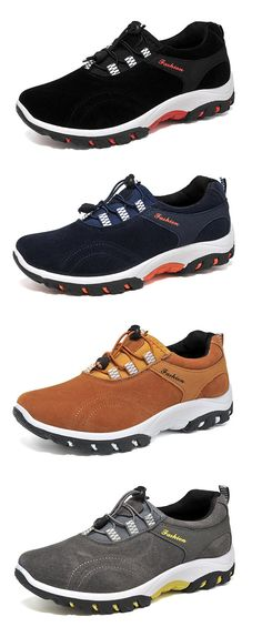 Men Elastic Laces Slip Resistant Breathable Outdoor Casual Sneakers
