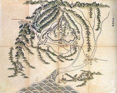 동림성도(東林城圖) 채색필사본. 18세기 말. 58.5 * 72.7cm. 개인 소장