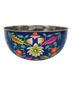 Floral Salad Bowl by Creative Co-Op on #zulily