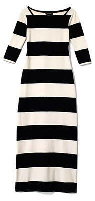 black and white striped maxi dress. stripes stripes. loove.