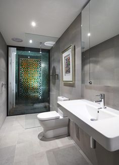 Some good ideas for aging in place bathroom.  Single Family Residence: Balaclava Road House by C.O.S Design
