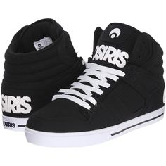 Osiris Clone (Charcoal/Bingaman) Men's Skate Shoes (140 RON) ❤ liked on Polyvore featuring men's fashion, men's shoes, men's sneakers, black, mens high top skate shoes, mens black sneakers, mens hi top shoes, mens sneakers and mens black shoes