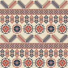 Illustration about Seamless pattern design with traditional Palestinian embroidery motif. Illustration of crossstitch, element, palestinian - 137364850