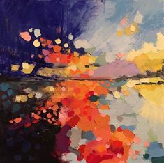 Joanna Posey Art / abstract landscape / Oil on canvas / Colourful landscape art / Oil painting Abstract Landscape, Landscape Paintings, Abstract Art, Landscapes, Landscape Elements, Landscape Edging, Abstract Portrait, Portrait Paintings, Pencil Portrait
