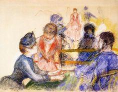 Pierre Auguste Renoir At The Moulin De La Galette oil painting reproductions for sale
