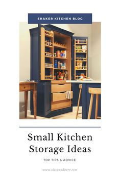 We have some great small kitchen storage ideas that maximise space and keep your kitchen looking clean, tidy, functional and beautiful. Kitchen Cupboard Storage, Above Kitchen Cabinets, Small Kitchen Storage, Functional Kitchen, Kitchen Worktop, Kitchen Cabinet Doors, Storage Spaces, Tall Cabinet Storage, Storage Ideas