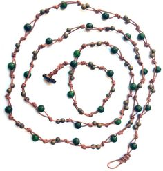 Wrap Necklace Green Agate Wrap Necklace Boho Chic Handmade