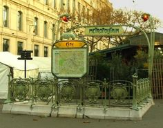 Cite Station on Metro Line 4  Not only does the Cité station – the only one on the Île de la Cité – have a beautiful art nouveau entrance, it also has pretty globe lighting along the track itself, reminiscent of old fashioned street lights.