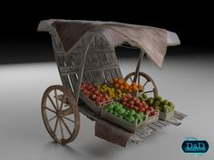 Fruit Market - The pack contains: - Fruit Market Grocery Bench model in the following formats: Vue obj (Vue 10+), export is possible. - 2 Scene files, one for 3ds Max 2012+ / Vray 2+ and a Vue scene (10+) - texture map folder Compatible with ALL Vue versions.   http://www.ddcreations.eu/store/3d-models/