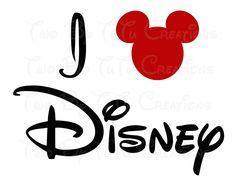 I Love Disney DIY Printable Image for Iron On Transfer. $3.50, via Etsy.