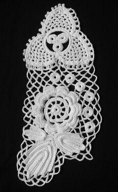 Irish crochet Freeform - like the little blobs in the net