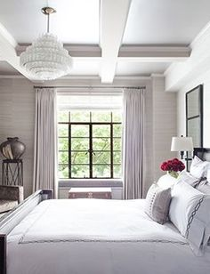 Beautiful master bedroom boasts white walls painted Sherwin Williams     Beautiful master bedroom boasts white walls painted Sherwin Williams Incredible  White framing Target Sea Urchin Ornamental       For the Home Party ideas