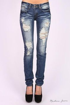 7b8c34cd561 Medium Wash Distressed Faded Skinny Jeans Run Small Will Want to order a  size up. 97% Cotton 3% Sprandex