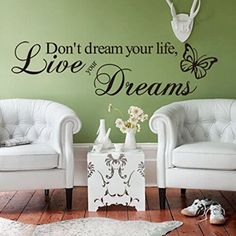 Live Your Dream Letters Butterfly DIY Wall Sticker Home Decor Decal Paster Art ** You can find out more details at the link of the image.