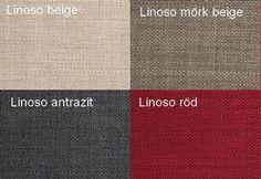 Linoso Beige / Linoso Mörkbeige / Linoso Antrazit / Linoso Röd Från Hovden Linoso Beige / Linoso Dark Beige / Linoso Anthracite / Linoso Red  From Hovden