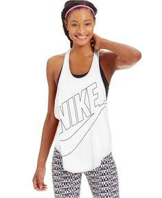 nike shoes Nike Graphic Tank Top - Tops - Women - Macys