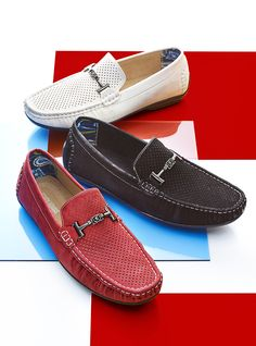 For the laid-back yet fashionable dad, try these driving moccasins from Stacy Adams.
