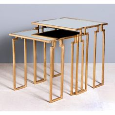 Interlude Home Stinson Nesting Tables - Gold