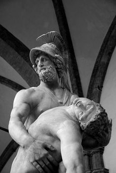 Patroclus and Menelaus, Loggia dei Lanzi, Florence