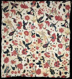The East India Company exported these embroideries from the port of Cambay (modern Khambat), and they were known as 'Cambay embroideries'.