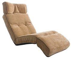 "Merax® 65"" Adjustable Folding Floor Sofa Chair Floor Couch Lounger Chair in Beige"