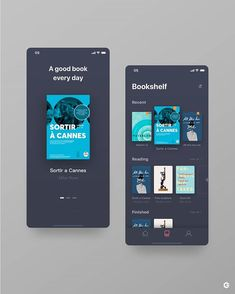 An amazing reading books app designed b Android App Design, Android Ui, App Ui Design, Mobile App Design, Web Design, Website Design Inspiration, Ui Inspiration, Tablet Apps, Cannes