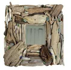 Rustic  Beach House Mirror Natural Surf Tumbled by ElaLakeDesign, $55.00