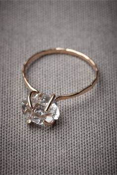 Incandescence Ring: this Melissa Joy Manning ring w/Herkimer diamond is gorgeous!