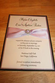 Rhinestone Buckle Elegance Wedding Invitation by LopazeCreations