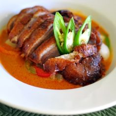Spicy Thai Curry with Crispy Duck Recipe | TasteSpotting