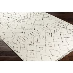 Bungalow Rose Frahm Hand-Woven Neutral/Black Area Rug Rug Size: 8' x 10'