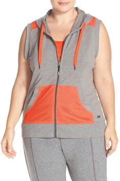 'Jenna' Hooded Vest (Plus Size)