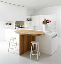 Thoughtful Minimalist White Kitchen For Small Spaces