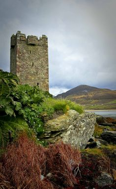 """""""Granuaile's Tower, Kildavnet, Achill Island, Co. Mayo, Ireland"""" by Alan Lonergan on Flickr - Granuaile's Tower, Kildavnet, Achill Island, Ireland. This tower house (castle) was built about 1429 by the Clan (family) O'Malley and is associated with Mayo's great pirate Queen Grace O'Malley also known as Granuaile (1530 - 1603)."""