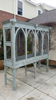 , The bird cage is both a property for your birds and a pretty tool. You can pick what you may need among the bird cage types and get much more unique images. Diy Bird Cage, Bird Cages, Bird Aviary, Paludarium, Bird Toys, Vintage Birds, Bird Houses, Pet Birds, Painted Furniture