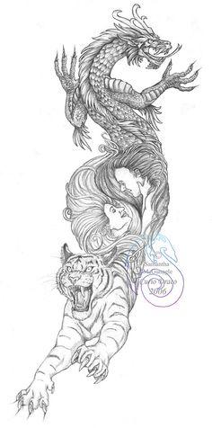 http://tattoomagz.com/dragon-and-tiger-tattoo/