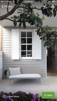 Dulux Limed White on central area and porch back wall