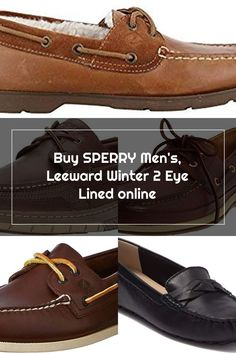 New SPERRY Men's, Leeward Winter 2 Eye Lined. Mens Winter clothing [$49.95]chicideas Sperrys Men, Winter Outfits Men, Mens Winter, Boat Shoes, Eyes, Clothing, Stuff To Buy, Fashion, Outfits