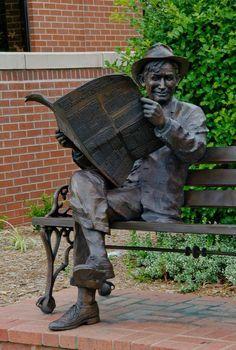 Will Rogers Statue In Tulsa, Oklahoma