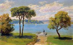 hoca ali rıza ile ilgili görsel sonucu Landscape Paintings, Watercolor Paintings, Art School, Istanbul, Egypt, Pastel, Abstract, Architecture, Nature