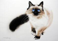 "Saatchi Art Artist Soo Beng Lim; Painting, ""Blue Eyes 2"" #art"