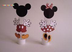 ***Tubete Minie e Mickey*** <br>- Tubete 13 cm. <br> <br>- Vários personagens! <br> <br>-Personalize seu tema!