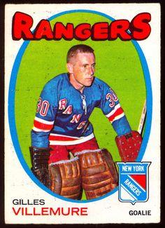 1971 72 Topps 18 GILLES VILLEMURE VG-EX NEW YORK  N Y RANGERS #NewYorkRangers