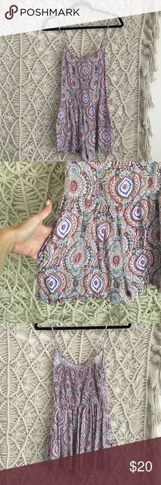 Band of Gypsies UO colorful romper jumper Great condition, runs pretty small Urban Outfitters Dresses