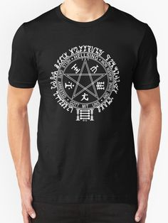 Anime Hellsing Alucard rune t-shirt.  Also buy this artwork on apparel, stickers, phone cases, and more. #Hellsing #alucard #runesigil #hellsingultimate