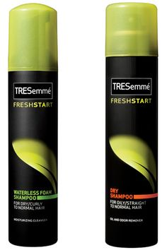 12 Amazing Drugstore Beauty Buys We Want! #refinery29  http://www.refinery29.com/12749#slide5  5. Tresemme Fresh Start Dry Shampoo and Waterless Foam Shampoo—Created with all hair types in mind, this super thifty Dry Shampoo is best for straight or oily hair while the Waterless Foam Shampoo works best on dry or curly hair. It's a great way to give your locks a little cleaning on the go!Tresemme Fresh Start Dry Shampoo and Waterless Foam Shampoo, $5.49 each, available at CVS.com.