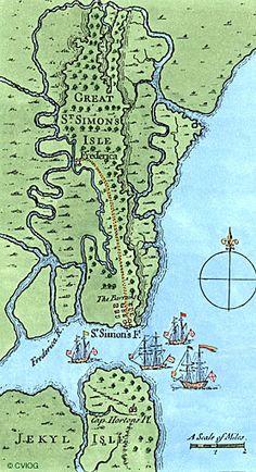 St Simons Island, Jekyll Island artist's map